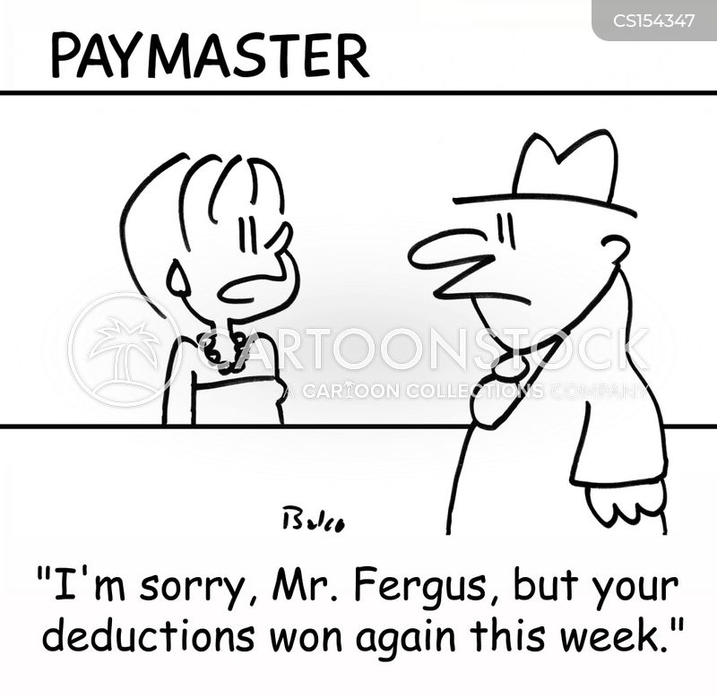 paymasters cartoon