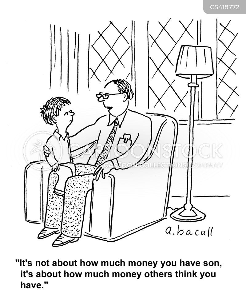 social statuses cartoon