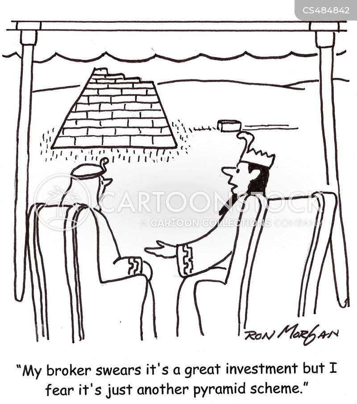 financial scams cartoon