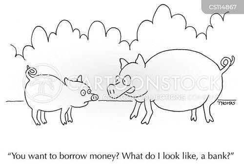 loaned cartoon
