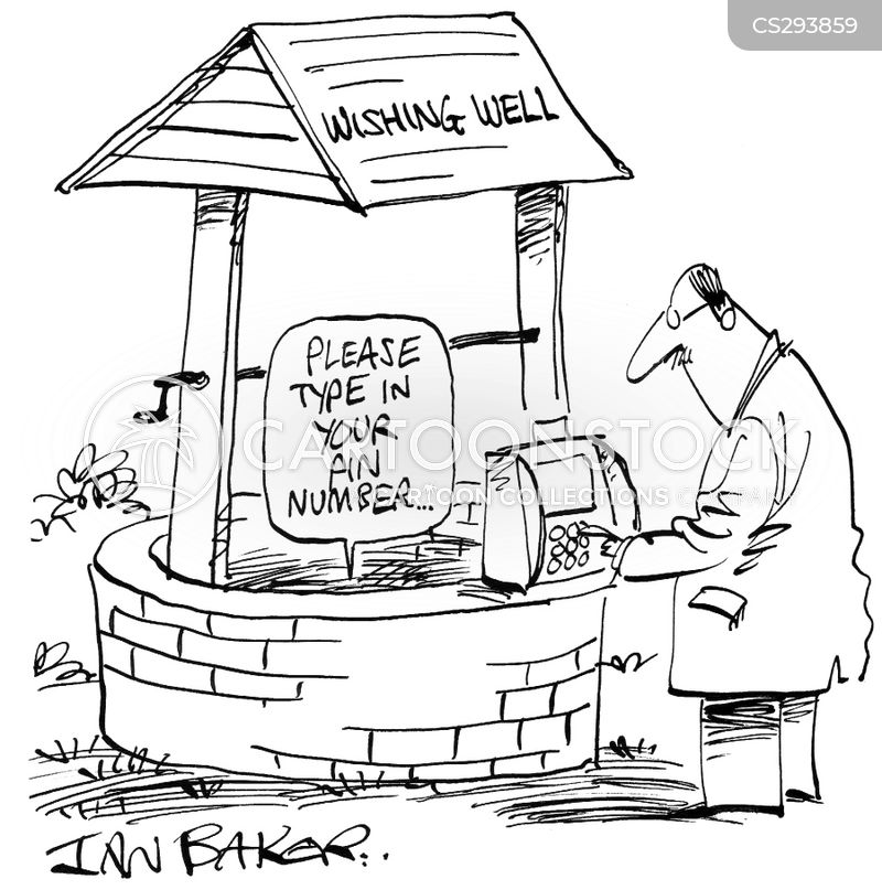 wishing wells cartoon