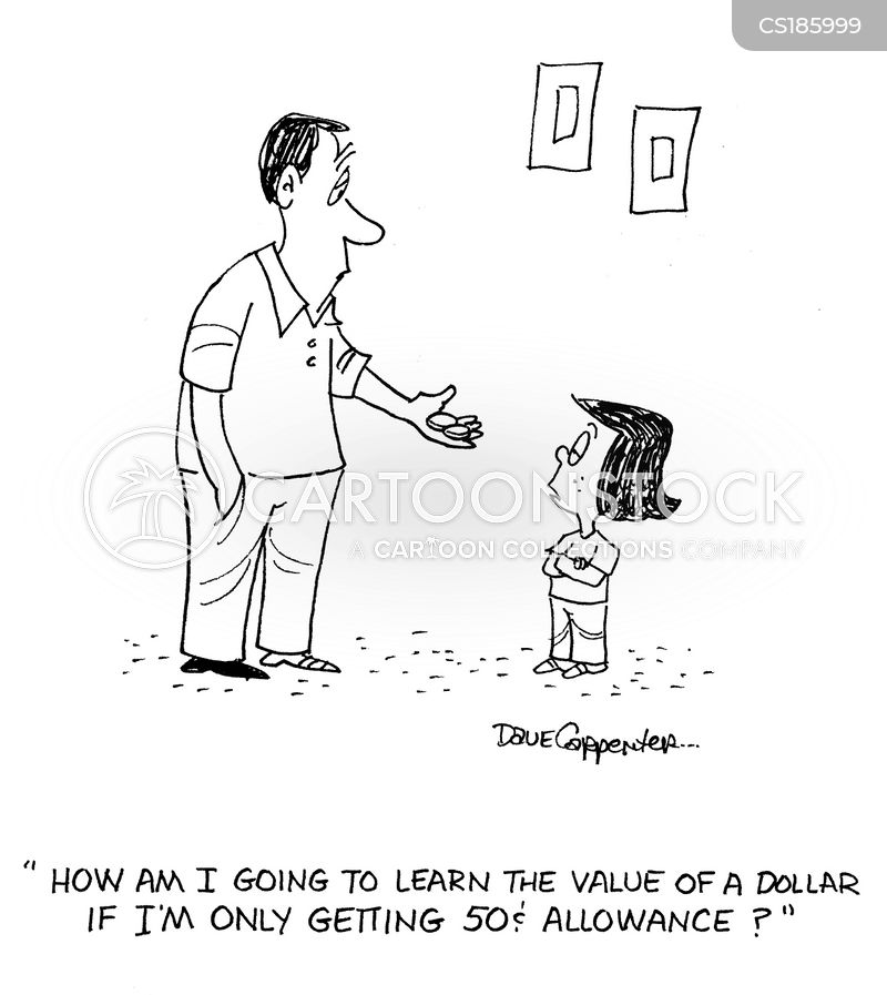 value of money cartoon