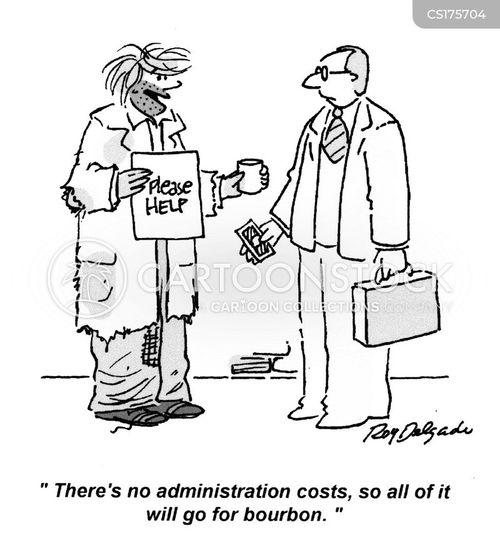 administration cost cartoon