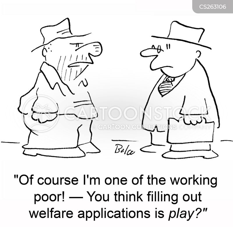 welfare application cartoon