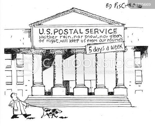 postal employee cartoon