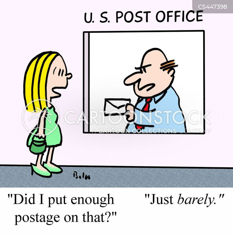 postage fees cartoon