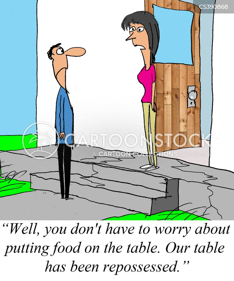 financial worries cartoon