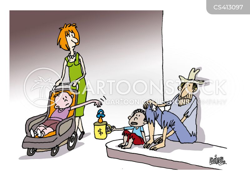 child poverty cartoon