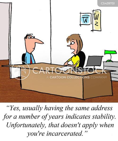criminal records cartoon