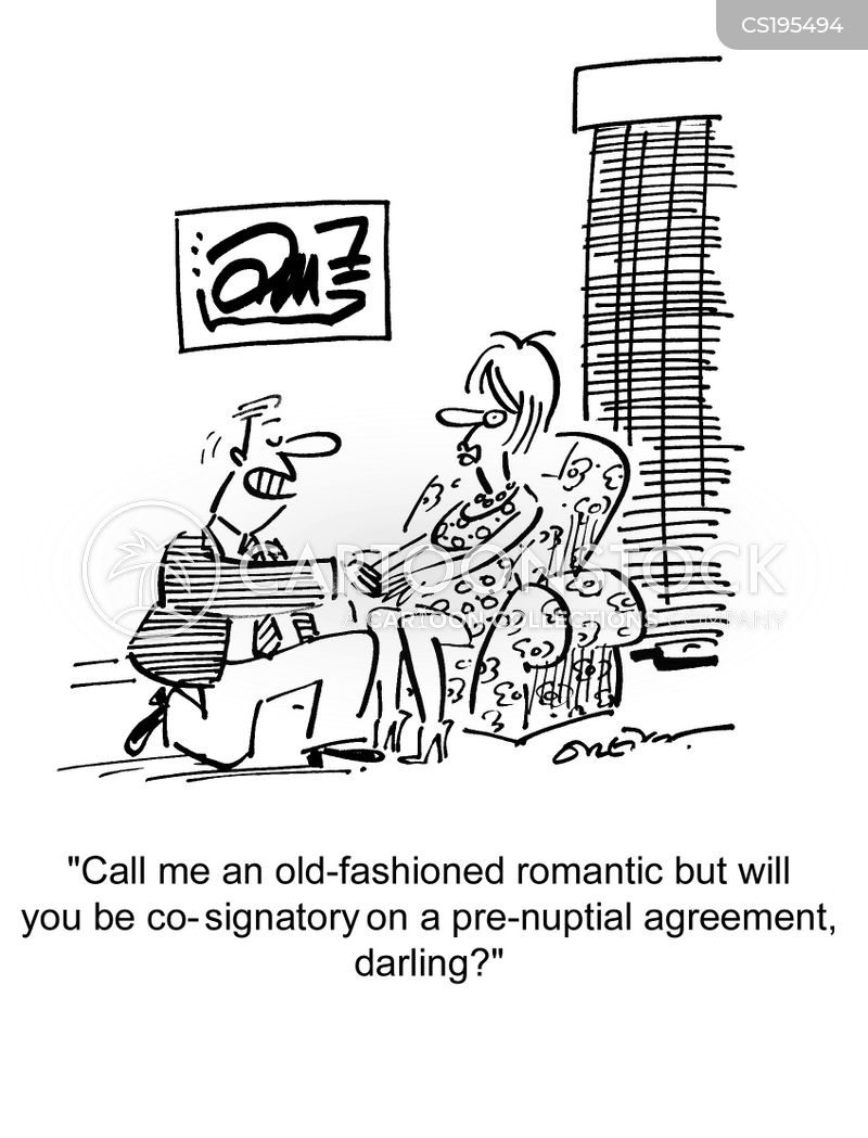 Pre Nuptial Agreements Cartoons And Comics Funny Pictures From