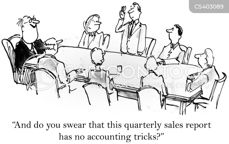accounting tricks cartoon