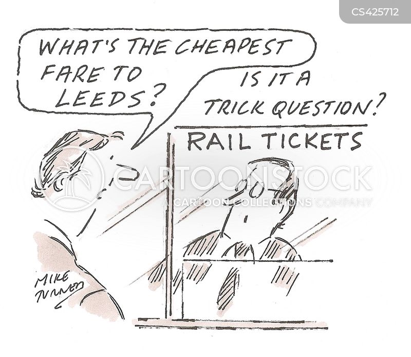 Railway Tickets Cartoons and Comics - funny pictures from CartoonStock