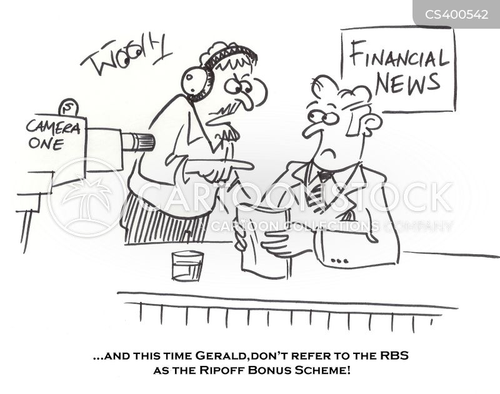 bank bonus cartoon