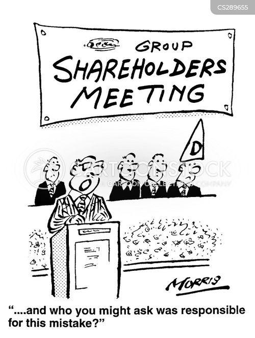 shareholder meeting cartoon