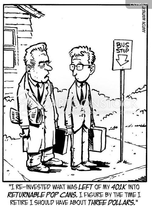 pension crisis cartoon