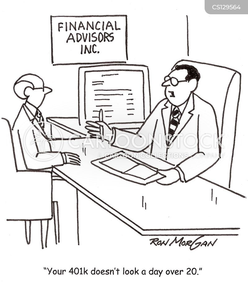 retirement income cartoon