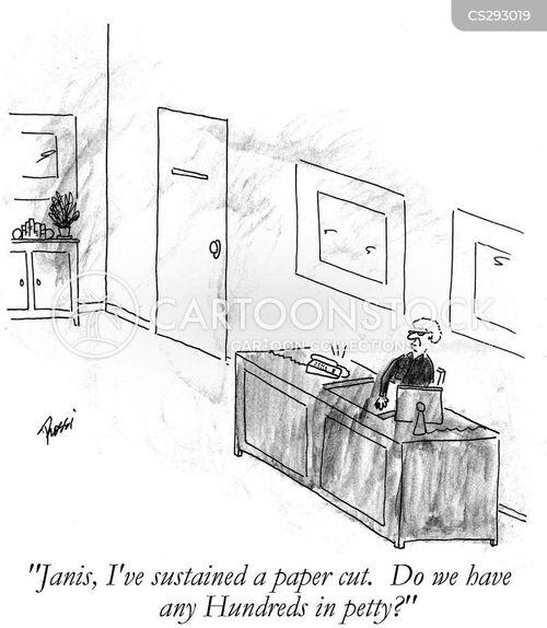 petty cash cartoon