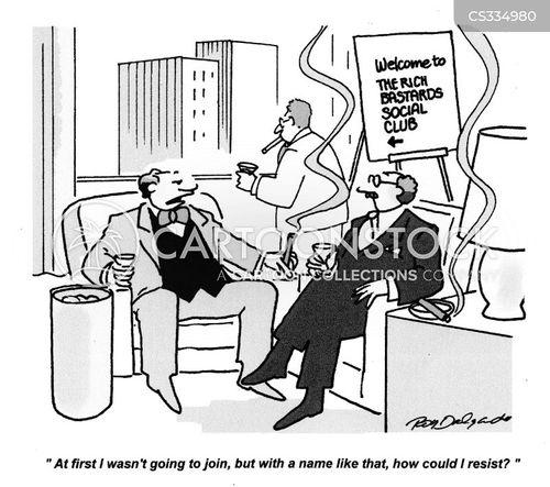 social clubs cartoon