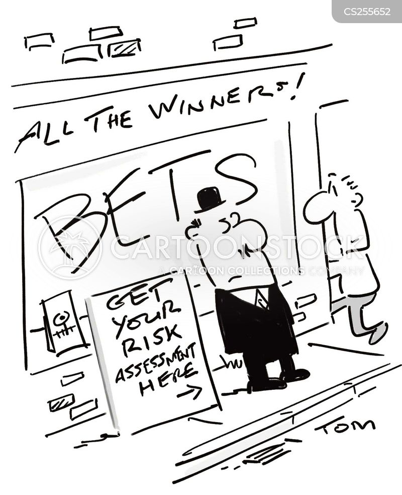 betting shop cartoon