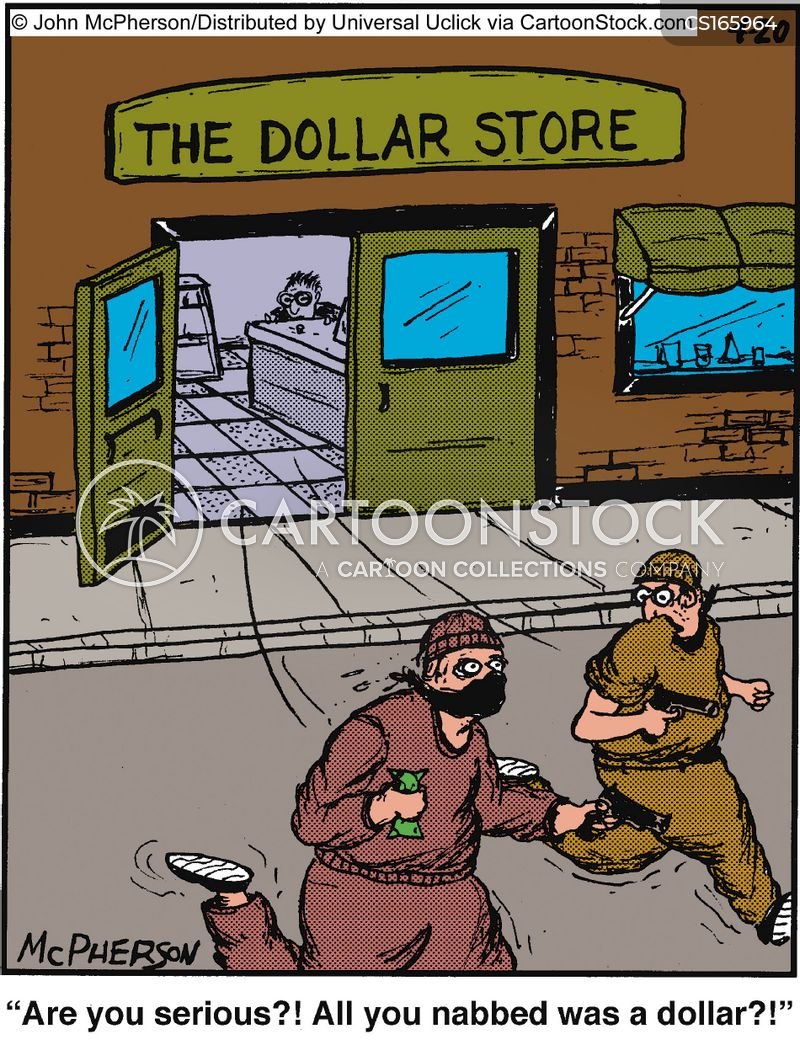 robbed cartoon