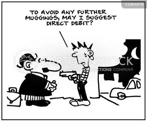 direct debit cartoon