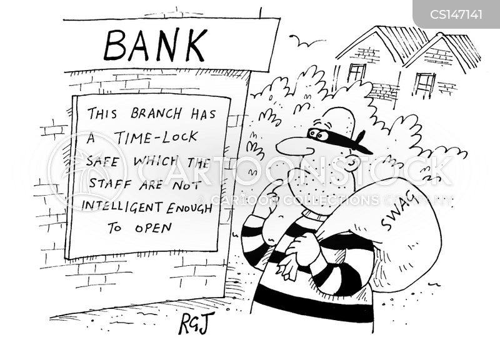 bank staff cartoon