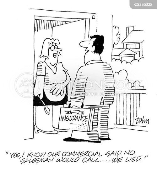 doorstep salesman cartoon