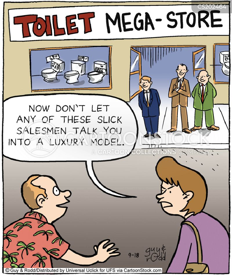 slick salesman cartoon