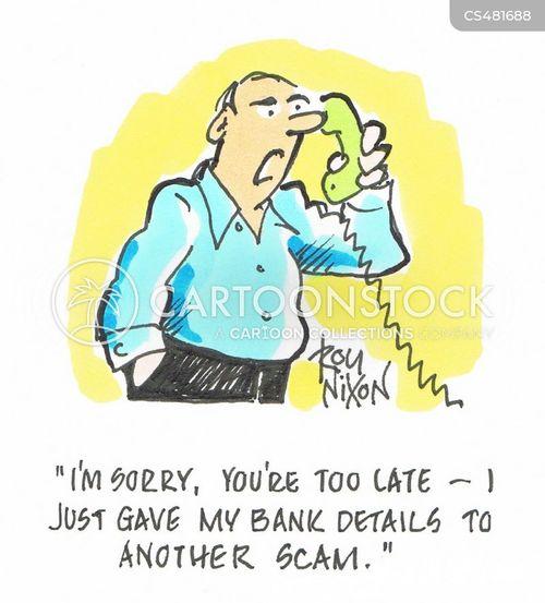 bank details cartoon