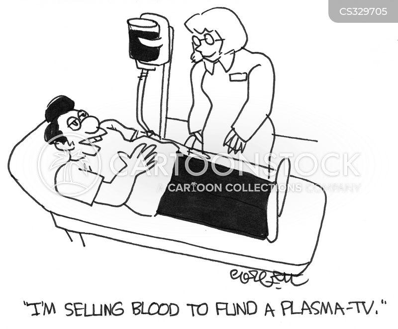 give blood cartoon
