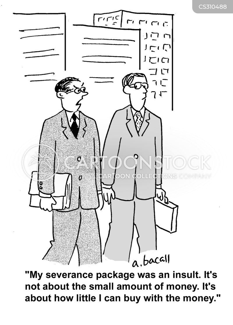 severance pay cartoon