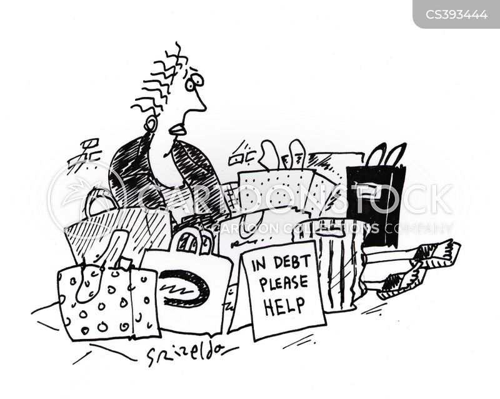 shopping habit cartoon