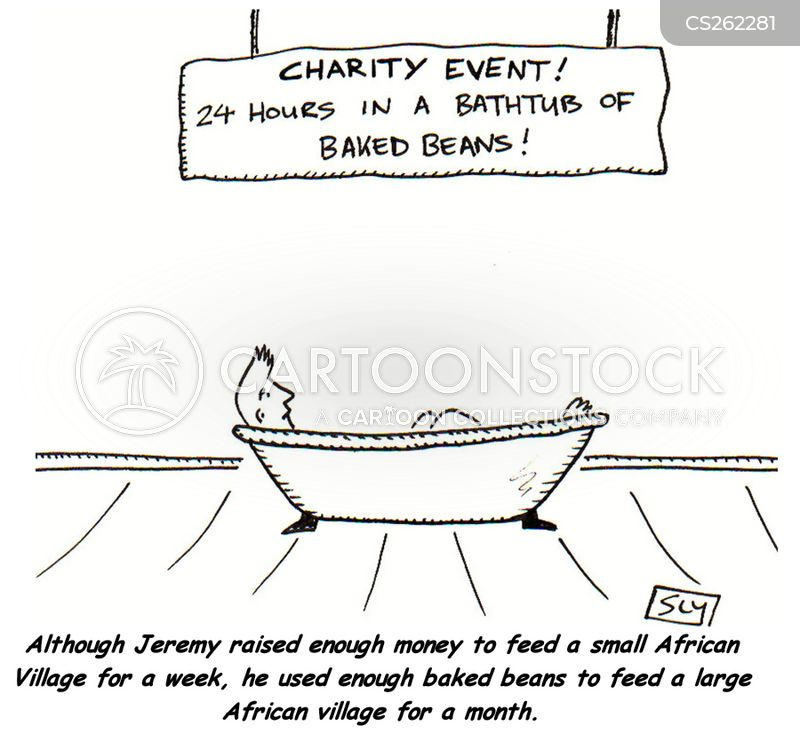 charity events cartoon