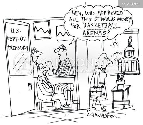 basketball arenas cartoon