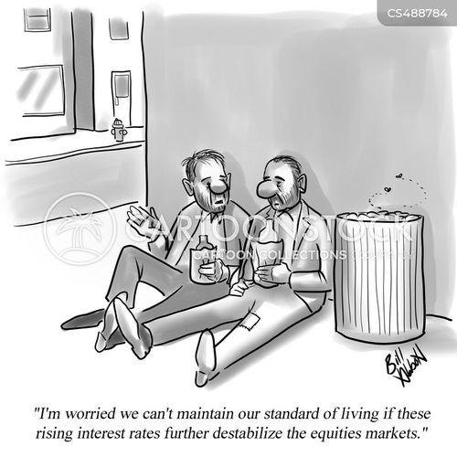 living standards cartoon