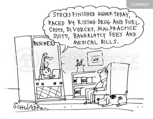 financial news cartoon