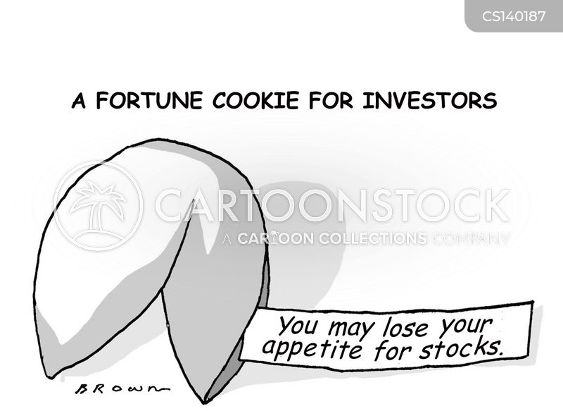 falling stocks cartoon