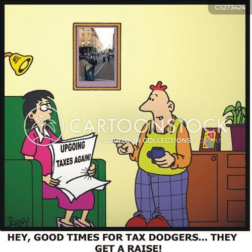 rising tax cartoon
