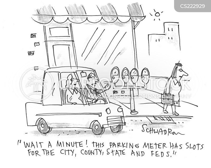 parking matres cartoon