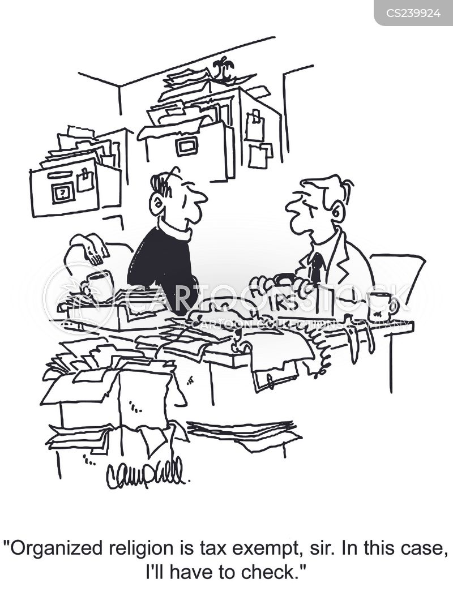 tax exemption cartoon