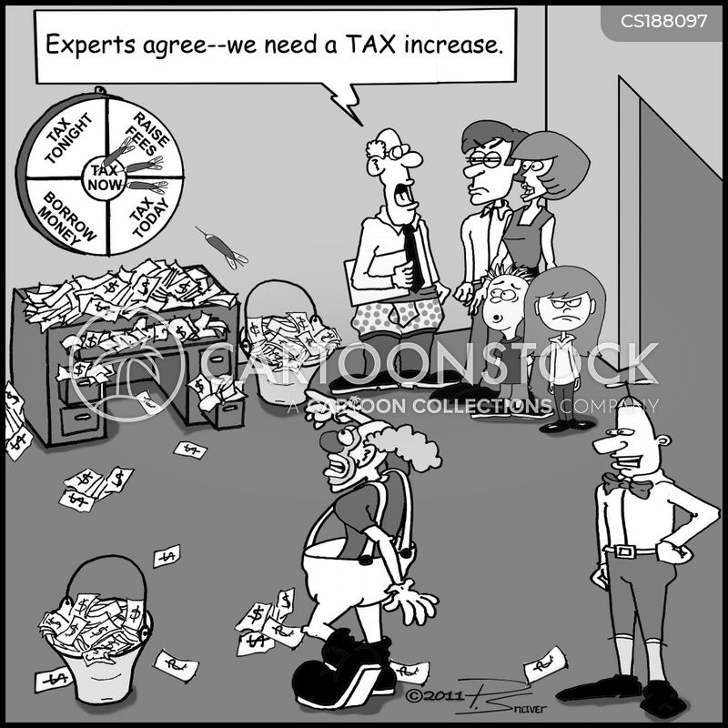 tax increase cartoon