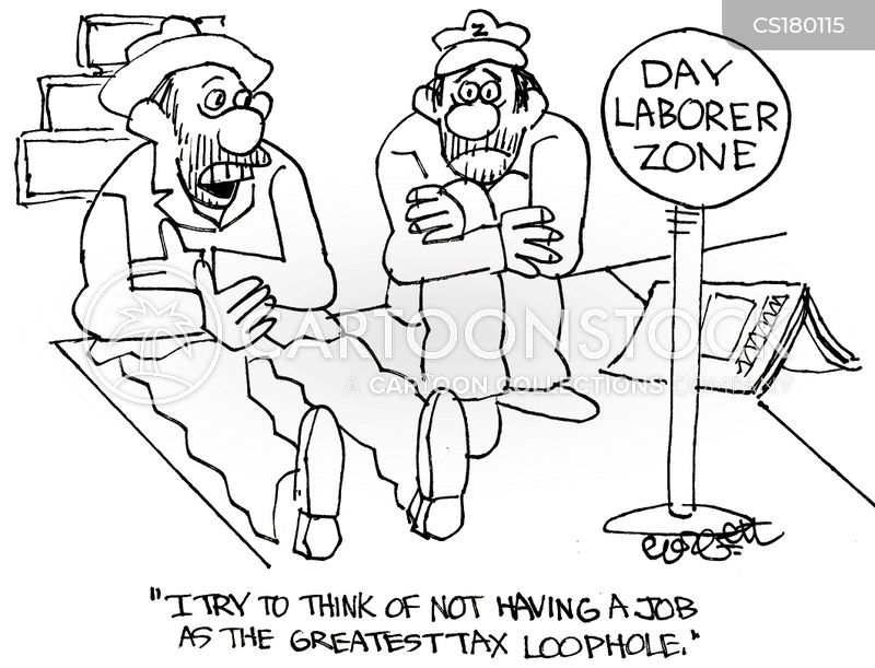 day laborers cartoon