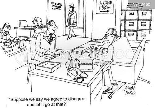 tax officer cartoon