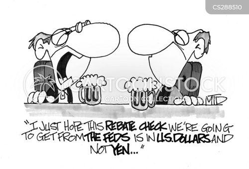 rebate checks cartoon
