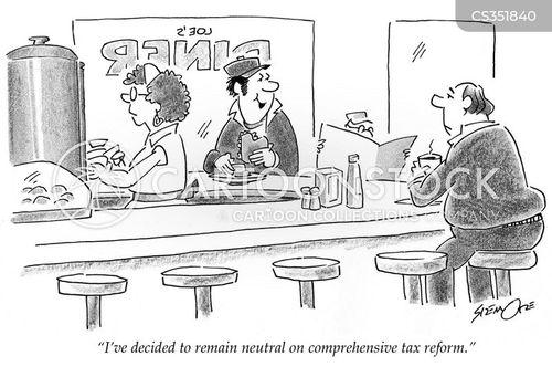 tax increases cartoon