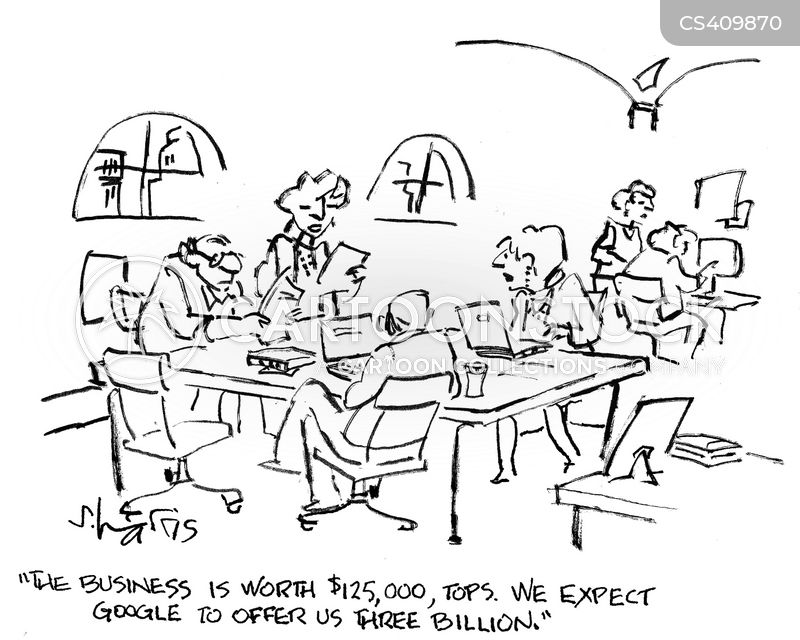corporate buyout cartoon