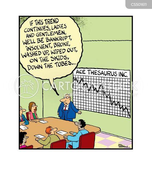 downward trends cartoon