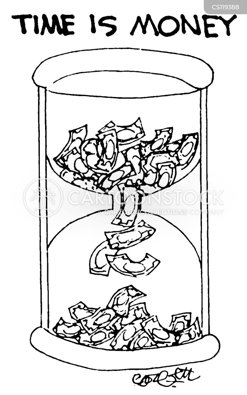 sand-glass cartoon