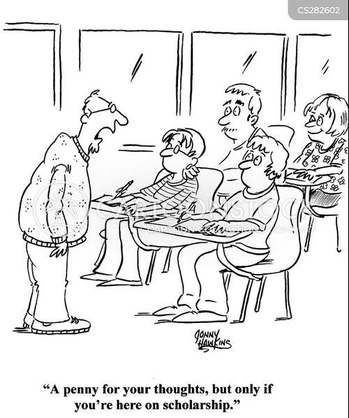 scholarship cartoon