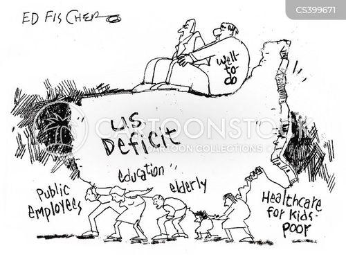 us debts cartoon